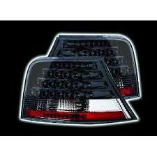 vw led tail lights golf mk4 6 1998 2004 black led rear tail lights car lights
