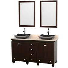 Wyndham Collection Acclaim  Double Bathroom Vanity For Vessel - Bathroom vanities double vessel sink