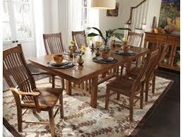 Mission Dining Room Set by A America Dining Room Laurelhurst Trestle Table Mission Oak Lau