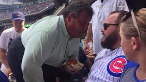 chris christie confronts fan at baseball game cnn video
