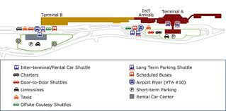 san jose airport on map airlines information early bird airport shuttle