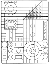 basic shapes coloring pages kids printable basic geometric