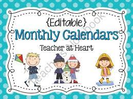 calendars teacher calendar template free editable calendar for teachers calendar template 2017