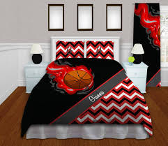 Bed Linen For Girls - basketball comforter sets for teenage girls queen king red