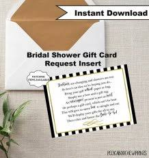 gift card theme bridal shower invitations bridal shower gift