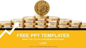 gold coins finance powerpoint templates download free daily