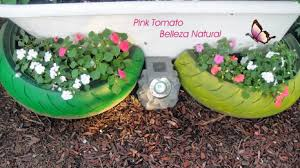 como hacer macetas con llantas recicladas paso a paso ideas de manualidades recicladas para el jardín maceteros