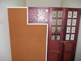 pooja room single door designs with glass rift decorators