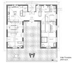 small courtyard house plans courtyard home plan when we build in mexico this is what i kinda