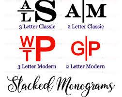 stacked monogram masculine monogram etsy