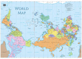 Australian Map Of The World by