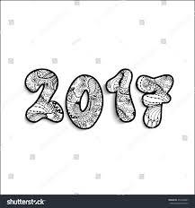happy new year 2017 hand drawn stock vector 453408481 shutterstock