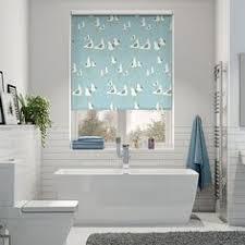 bathroom blind ideas splash geo medley britannica blue roller blind blue roller