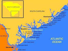 south carolina beaches map map of south carolina coast map of south carolina and s
