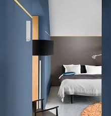 couleur moderne pour chambre trait de couleur jaune pour structurer une chambre moderne