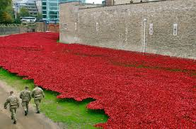 tower of london poppies obliterated by machine guns underground