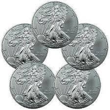 silver coins eagle canadian dollar bullion ebay