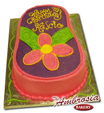 with this cute flip flop cut out cake put color choices of