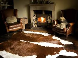 Modern Cowhide Rug Living Room Decorating With A Cowhide Rug Living Room Brown Most