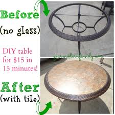 replace glass in coffee table with something else diy replace glass tabletop with tile for under 15