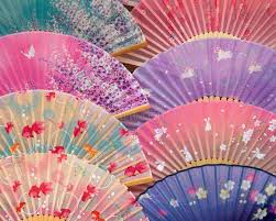 japanese fans japanese fans stock image image of china lovely gold 1292159