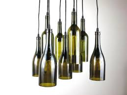 Wine Bottle Light Fixtures Kitchen Lime Green Wine Bottle Pendant Light With Making A