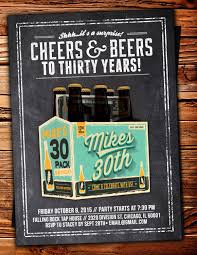 30th surprise party invitations any age cheers and beers invitation beer 21st 30th 40th