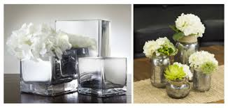 Mirrored Vases Add Charm With Fresh Cut Garden Blooms And Vintage Glass Bottles