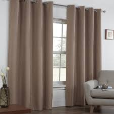 Cream Blackout Curtains Eyelet by Textured Woven Plain Thermal Blackout Linen Look Eyelet Grommet