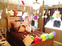 Interior Decoration With Waste Material by Happy Birthday Room Decoration Suprise Surprise Pinterest