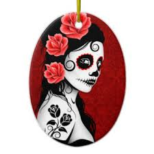 sugar skull ornaments keepsake ornaments zazzle
