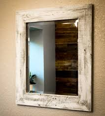 Wood Mirrors Bathroom Whitewashed Reclaimed Wood Mirror Wood Mirror Pocket And Woods