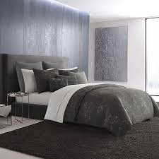 charcoal bedding vera wang charcoal floral duvet cover free shipping today
