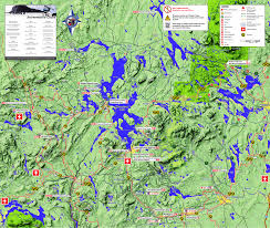 Map Maine Maps Moosehead Lake Cabin Rentals In Rockwood Maine