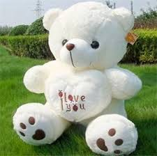 50cm large big teddy soft plush i you