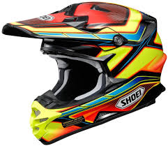 motocross helmet visor shoei vfx w capacitor motocross helmet yellow red black shoei