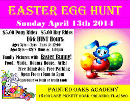 easter egg hunt with easter bunny visit painted oaks academy