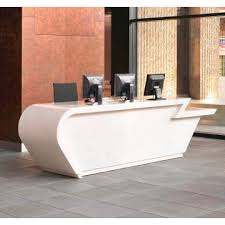 High End Reception Desks Kkr Counter China Solid Surface Office Bar Counter White