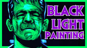 halloween black light art frankenstein speed painting youtube