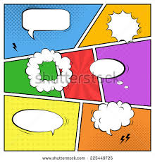 vector colorful template comic book page stock vector 225449725