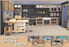 natural kitchen design sims 4 cc u0027s the best natural kitchen by pqsim4