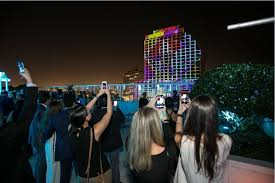 3d light show 3d light show spotlights soon to open conrad fort lauderdale