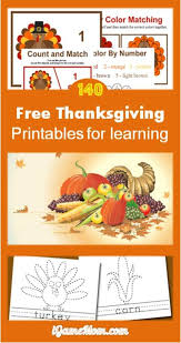 140 pages free thanksgiving printables for learning math crafts