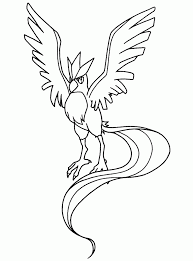free printable legendary bird pokemon coloring pages sheets