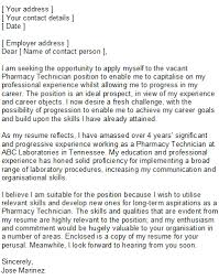 7 pharmacy technician cover letter no experience pay stub template
