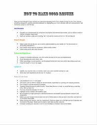 example of a good college resume making your resume look good virtren com making the best resume sample resume123