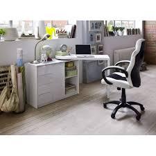 Swivel Computer Desk White Lacquered Swivel Computer Desk Office Home