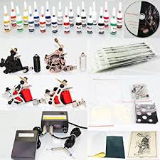tattoo kit without machine amazon com deluxe complete tattoo kit 4 machine gun power supply