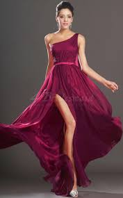 a line burgundy bridesmaid dresses one shoulder burgundy long