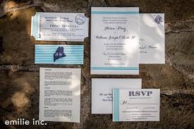 wedding invitations island alison will s peaks island maine wedding daisies pearls